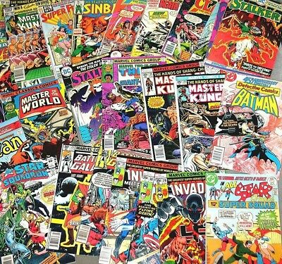 1 Box Lot of 25 comics Marvel,DC, Other Publishers NO duplication free shipping