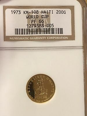 Ngc Proof 66 Gold Coin 1973 World Cup Soccer 1/10 Ounce Pure Pop 1 Rare & Cheap
