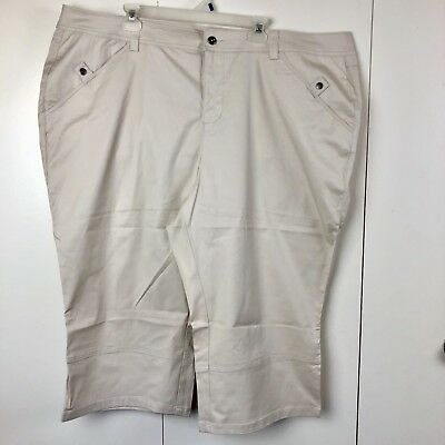 e8f16e20ae0 Lane Bryant Venezia Womens Capri Pants Plus Size 28 Khaki NWT Stretch  44.50