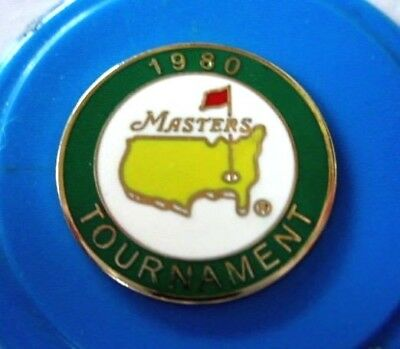 """1980 Us Masters (Seve Ballesteros' 1St Masters Title) 1"""" Coin  Ball Marker"""