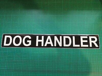 DOG HANDLER REFLECTIVE MAGNET  K9 SITE SECURITY PATROL UNIT  620mm x1