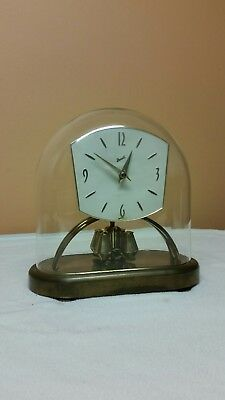 Large And Very Rare  Glass Domed Anniversary Clock