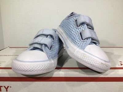 Converse All Star Chuck Taylor 2V OX Kids Sz 6 Porpoise Toddler Shoes X11-1293