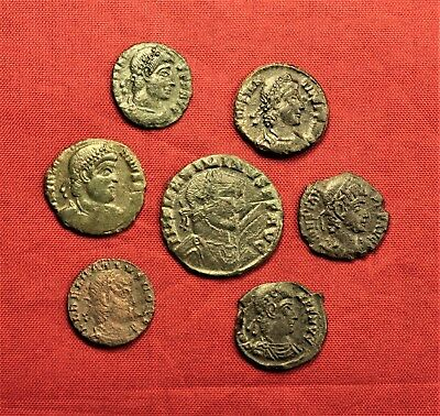 Lot of 7 Ancient Roman Bronze AE3 Coins and Follis #3