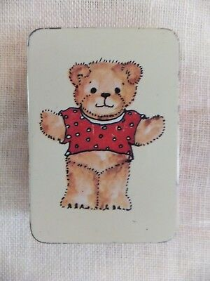Teddy Bear Tin lucy and me 1979 Lucy Rigg Enesco 2.5 X 1.5""