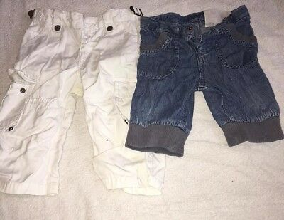 MIRACLE OF LOVE VERTBAUDET Jeans trousers & 3/4 length bundle X2, 12 MONTHS vgc