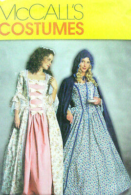 18th Century Colonial Revolutionary War Costume Sewing Pattern McCalls 3289