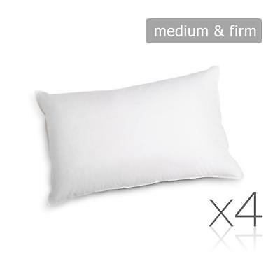 Firm & Medium Polyester Cotton Pillows Hotel Motel Air BnB Bed Rental 48X73cm