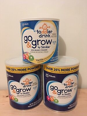 3 BRAND NEW Cans Similac Go and Grow  Toddler Drink Formula FAST SHIP!