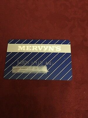 Vivintage Mervyn's Department Store Collectors Credit Card Expired