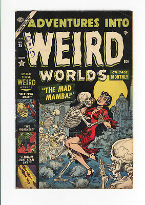 Adventures Into Weird Worlds #25 - Extremely Rare Atlas Horror!  Gruesome Cover