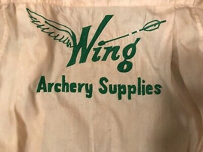 Vintage Embroidered Shirt Wing Archery Supplies Sheinberg mfg. co Houston Texas