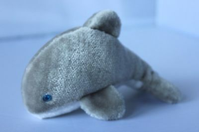 "Vintage 1990 Sea World 6"" Dolphin Plush Stuffed Animal"