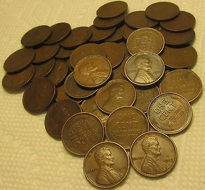 1 Roll Of 1909 P Vdb Philadelphia Lincoln Wheat Cents From Penny Collection