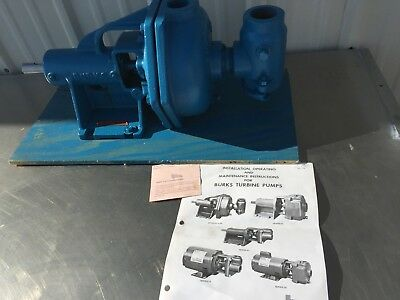 "Burks EC10M Condensate Turbine Boiler Feed Pump 3/4"" Shaft Base Mounted"
