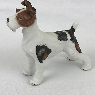 Wire Fox Terrier Dog Figurine Porcelain