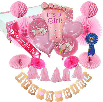 Baby Girl Monkey Diaper Cake Kit 25pc Shower Party Supplies