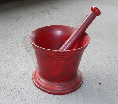 Vintage Cast Iron Mortar and Pestle 1850s
