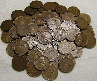 2 Rolls Of 1921 P Philadelphia Lincoln Wheat Cents From Penny Collection