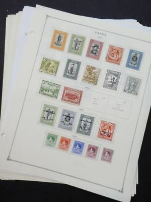 EDW1949SELL : PAPUA Very clean Mint & Used collection on album pages. Cat $430.