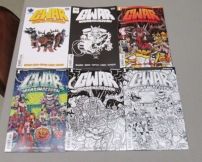 6x GWAR ORGASMAGEDDON 1; A SAWYER B WYGMAN C COLORING BOOK D PHOTO E 1:10 F 1:20