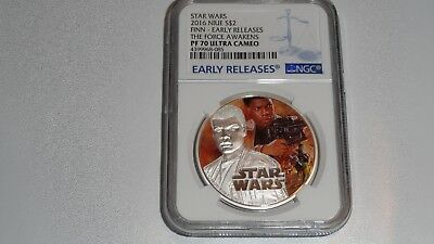 2016 Niue $2 Star Wars Finn NGC PF 70 Ultra Cameo Early Releases