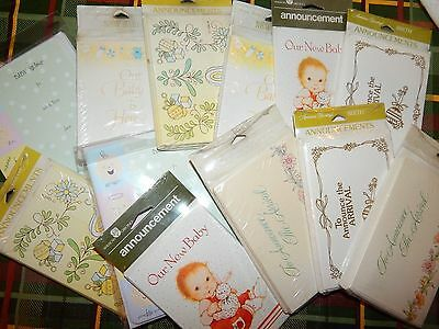 Birth Baby Shower Invites Announcements Lot 12pk (104) American greeting