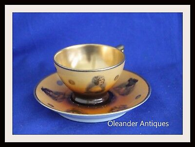 Carlsbad miniature/demitasse cup and saucer FSG Made in Czech State