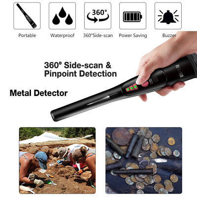 Pointer Automatic Metal Detector Pinpointer Waterproof LED Flashlight Portable