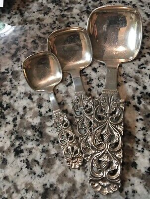Vintage Brodrene Lohne Norway 830 Silver Square Spoons Set Of 3