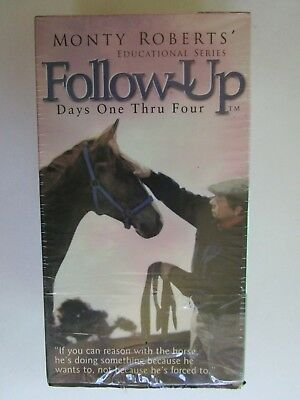Monty Roberts FOLLOW UP Days 1-4 Educational Series Horse Training VHS