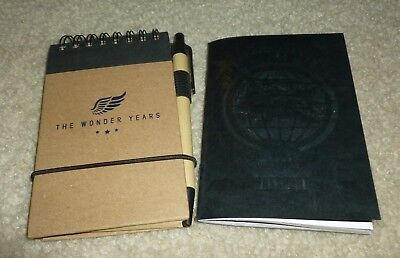 The Wonder Years NOTEBOOK & PASSPORT Collectible RARE Real Friends LOOK!