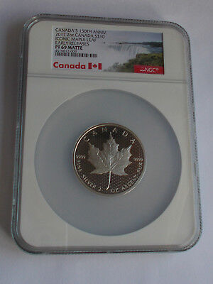 2017 Canada 150Th Anniversary 2 Oz. Silver $10 Dollar Pf69 Ngc Ultra Cameo