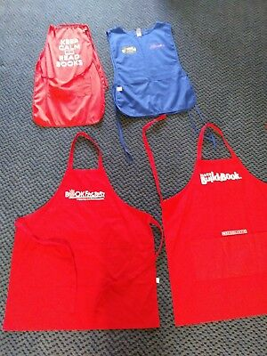 4 APRONS in excellent condition One size fits all pockets
