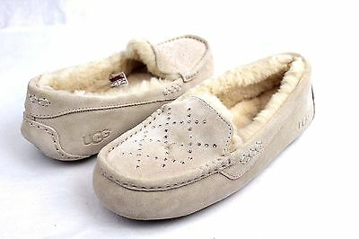 8da81a06b91 UGG ANSLEY CRYSTAL Diamond Moccasin Slippers Freshwater Pearl Size 10 Us