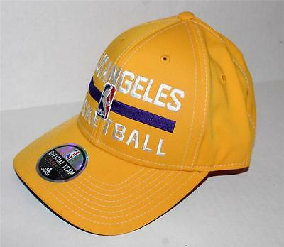 c9d513b197a Adidas Los Angeles Lakers Authentic Practice Structured Adjustable Hat Cap