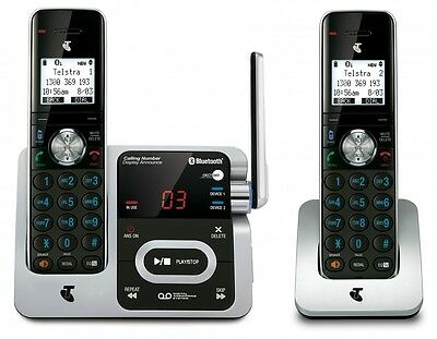TELSTRA Long Range 12750 Twin DECT360 2 HND Cordless Phone ANS/MACHINE BLUETOOTH