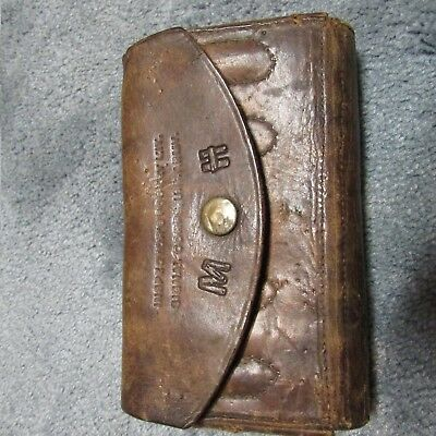 Original WWII US Army Signal Corps Leather Inspector's Pocket Kit