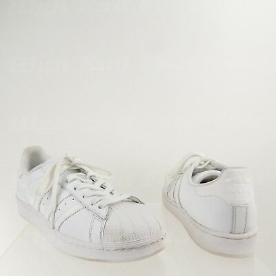 5d285837fda8 Adidas Superstar Men s Shoes White Leather Casual Classic Sneakers Size 9 M