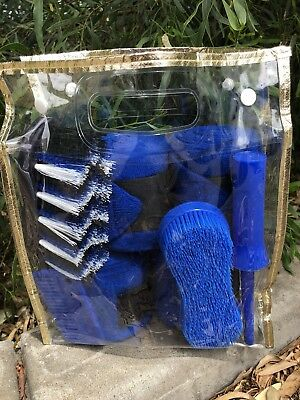 Horse & Pony Kit In Blue - 7 Piece ~ Supplied In Gold Trimmed Bag
