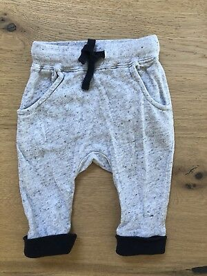 Seed Baby Boy Grey Pant With Navy Ears Size 0