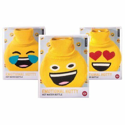 Emoji Hot Water Rubber Bottle with Cover Winter Warm Hotty
