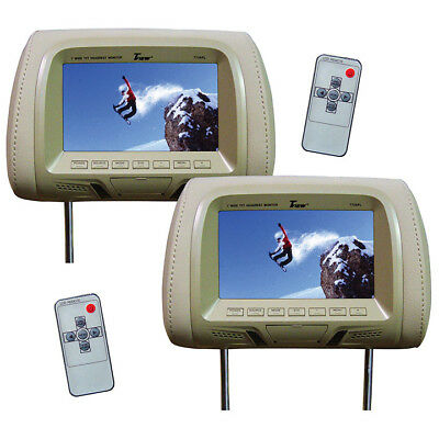 """TVIEW T726PL-TN Tview 7"""" TFT/LCD Car Headrest with Monitor PairTan"""