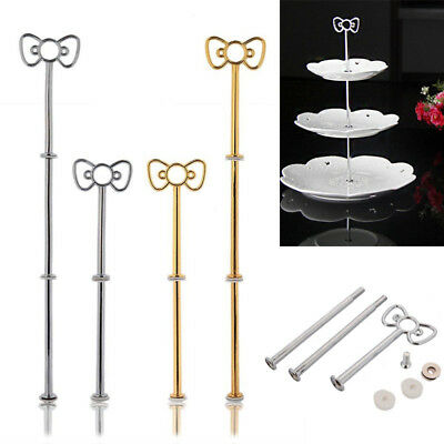 Bow Cake Plate Stand Holder Desserts Cheese Chocolate Candy Display Rack Alloy