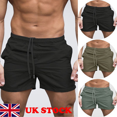Mens GYM Shorts Training Running Sport Workout Casual Jogging Pants Trousers