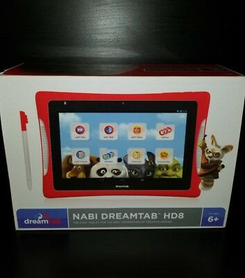 Nabi DreamTab HD8 Kids Tablet Brand New Factory sealed 1 free accessory included