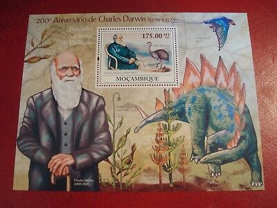 2009 Mozambique - Charles Darwin - Minisheet Unmounted Mint Miniature Sheet