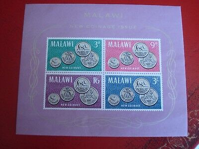 Malawi - New Coinage - Minisheet - Unmounted Mint Miniature Sheet