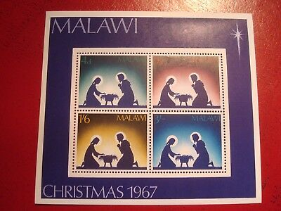 Malawi - 1967 Christmas -  Minisheet - Unmounted Mint Miniature Sheet