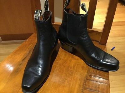 RM Williams Boots, Black Leather, Size 8 G RS